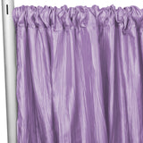 "Accordion Crinkle Taffeta 10ft H x 54"" W Drape/Backdrop Panel - Victorian Lilac/Wisteria"