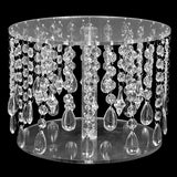 Acrylic Round Beaded Cake Stand