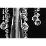 Acrylic Crystal Drop Centerpiece - Silver