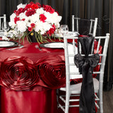 "Satin 108"" Round Tablecloth - Apple Red"