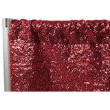 "Glitz Sequin 10ft H x 112"" W Drape/Backdrop panel - Apple Red"