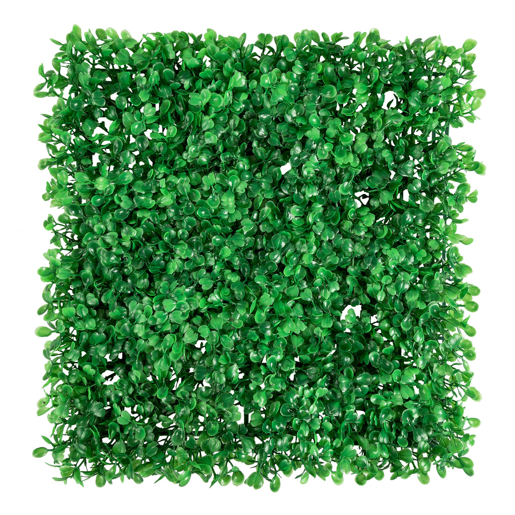 "Artificial Boxwood Greenery Wall Backdrop Panel - 12""x12"""