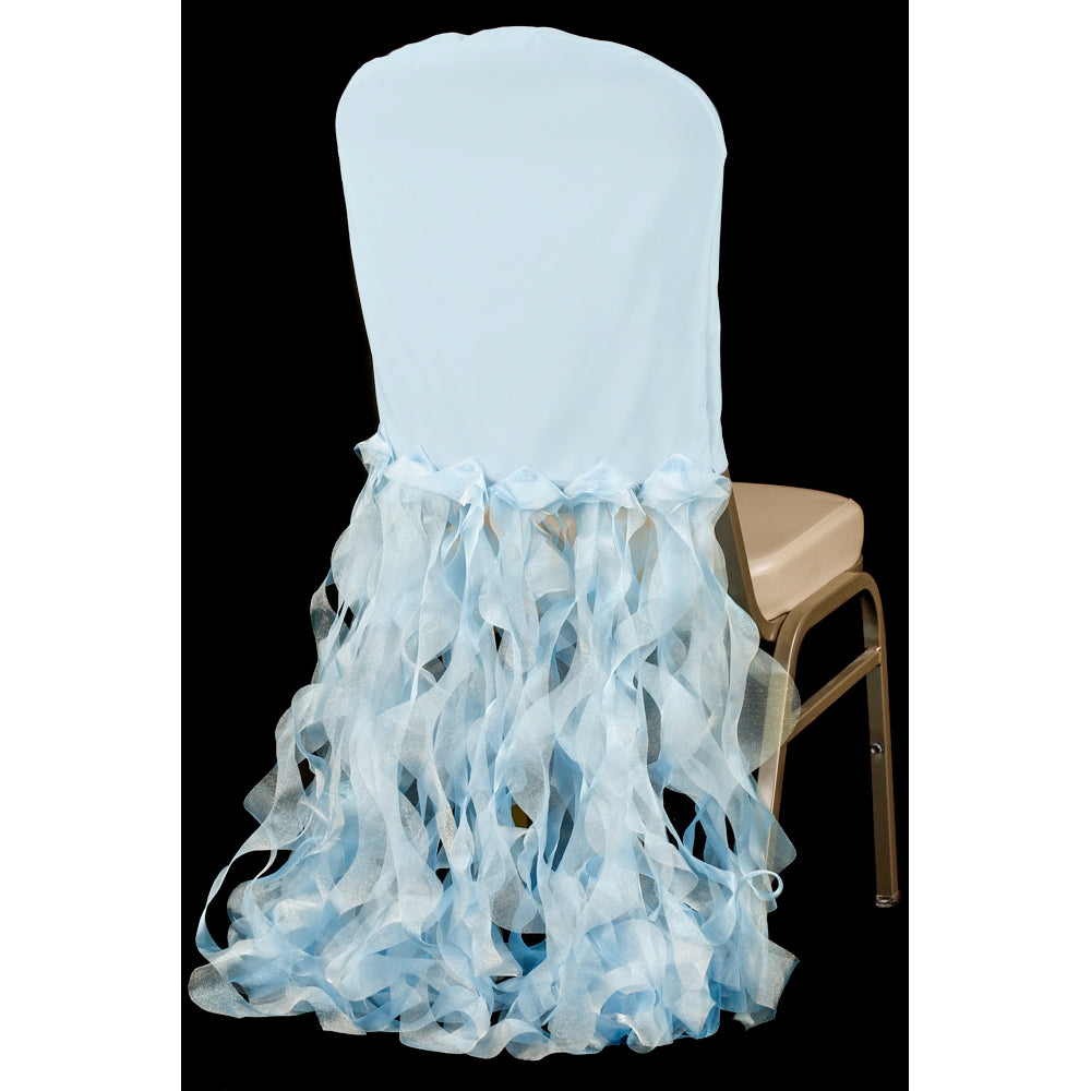 Banquet Curly Willow Lamour Slip Chair Back Cover - Baby Blue