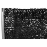 "Glitz Sequin 12ft H x 112"" W Drape/Backdrop panel - Black"