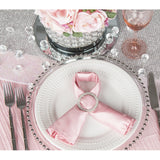 "Accordion Crinkle Taffeta Table Overlay Topper 85""x85"" Square  - Pink"