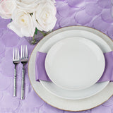 "Petal Circle Taffeta Round 120"" Tablecloth - Lavender"