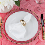 "Petal Circle Taffeta Round 120"" Tablecloth - Coral"