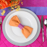 "Polyester Napkin 20""x20"" - Orange"