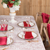 "Satin Rectangular 60""x120"" Tablecloth - Burgundy"