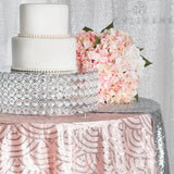 "Mermaid Scale Sequin 120"" Round Tablecloth - Blush/Rose Gold"