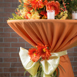 "Polyester 120"" Round Tablecloth - Orange"