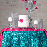 Wedding Rosette SATIN Table Runner - Fuchsia