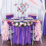 Tulle Tutu 17ft Table Skirt - Lavender & Purple