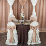 "Round Polyester 132"" Tablecloth - Chocolate Brown"