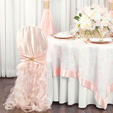 Banquet Curly Willow Lamour Slip Chair Back Cover - Blush