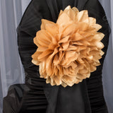 Jumbo Taffeta Fabric Flower - Gold