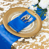 "Lamour Satin Napkin 20""x20"" - Royal Blue"