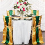 Standard Satin Chair Sash - Emerald Green