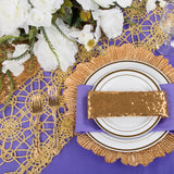 Reef Glass Charger Plate - Gold