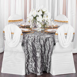 Glitz Sequin Spandex Chair Band - Silver