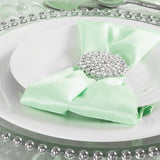 "Satin Napkin 20""x20"" - Mint Green"