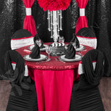 "Polyester 120"" Round Tablecloth - Red"
