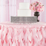 Curly Willow 14ft Table Skirt - Pink
