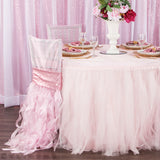 Tulle Tutu 14ft Table Skirt - Pastel Pink