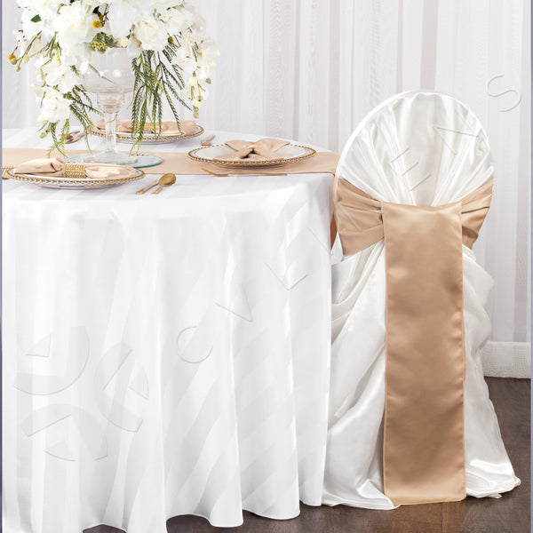 Universal Satin Self Tie Chair Cover White At Cv Linens