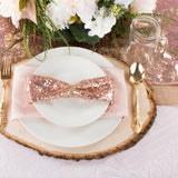 "Glitz Sequin Napkin 20""x20"" - Blush/Rose Gold"
