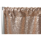 "Glitz Sequin 10ft H x 52"" W Drape/Backdrop panel - Champagne"