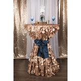 "Petal Circle Taffeta Round 120"" Tablecloth - Champagne"