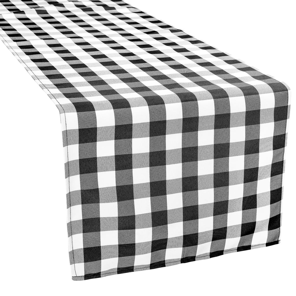 Gingham Checkered Polyester Table