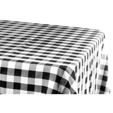 "Gingham Checkered Rectangular Polyester Tablecloth 60""x120"" - Black & White"