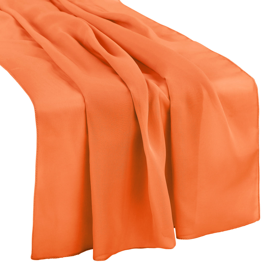 "Chiffon Wedding Table Runner 27""x120"" - Apricot"