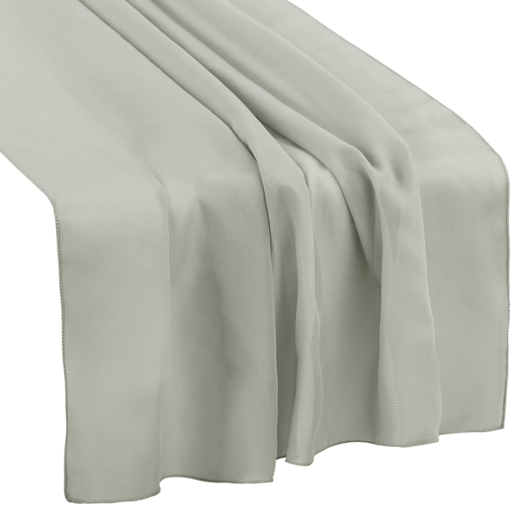 "Chiffon Wedding Table Runner 27""x120"" - Silver"