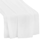 "Chiffon Wedding Table Runner 27""x120"" - White"