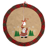 "Christmas Plaid Tree Skirt 36"" Round - Green & Red"