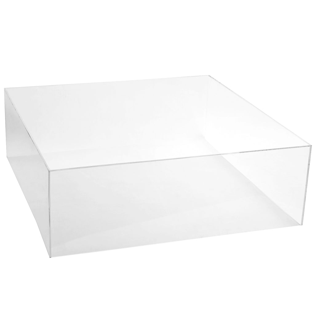 "Clear Acrylic Cake Box Stand 18""x18"""