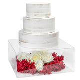 "Clear Acrylic Cake Box Stand 14""x14"""