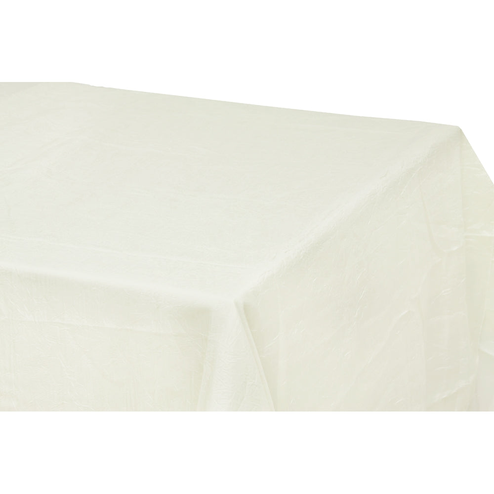 "Crushed Taffeta 90""x132"" rectangular tablecloth - Ivory"
