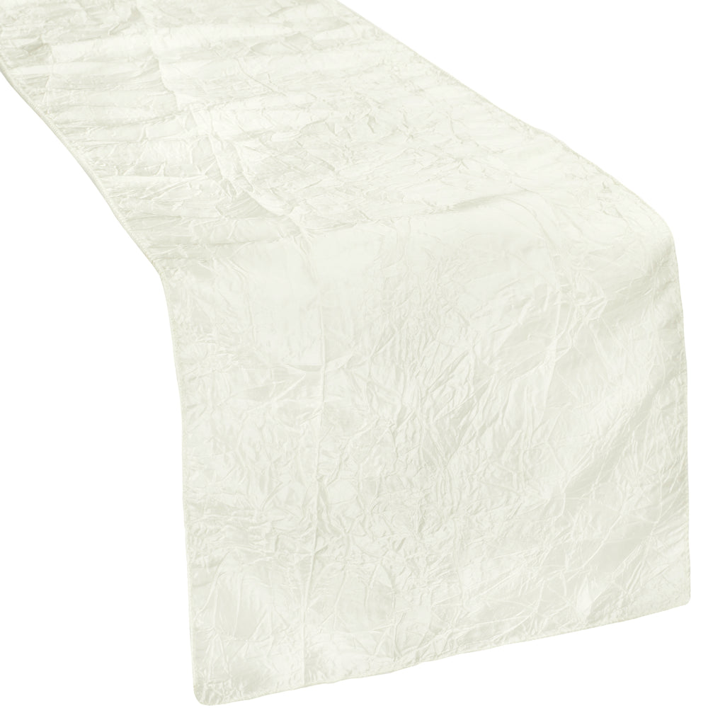 Crushed Taffeta Table Runner - Ivory