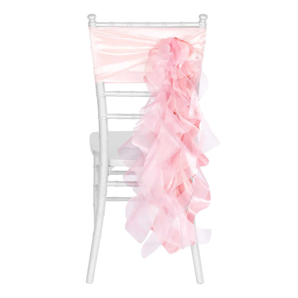 Curly Willow Chair Sash - Pink