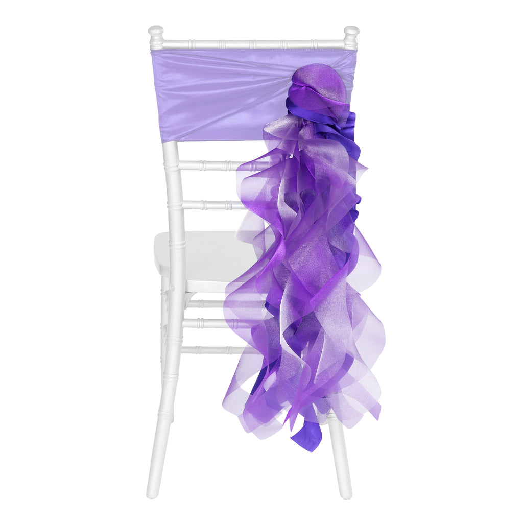 Curly Willow Chair Sash - Silver- CV Linens