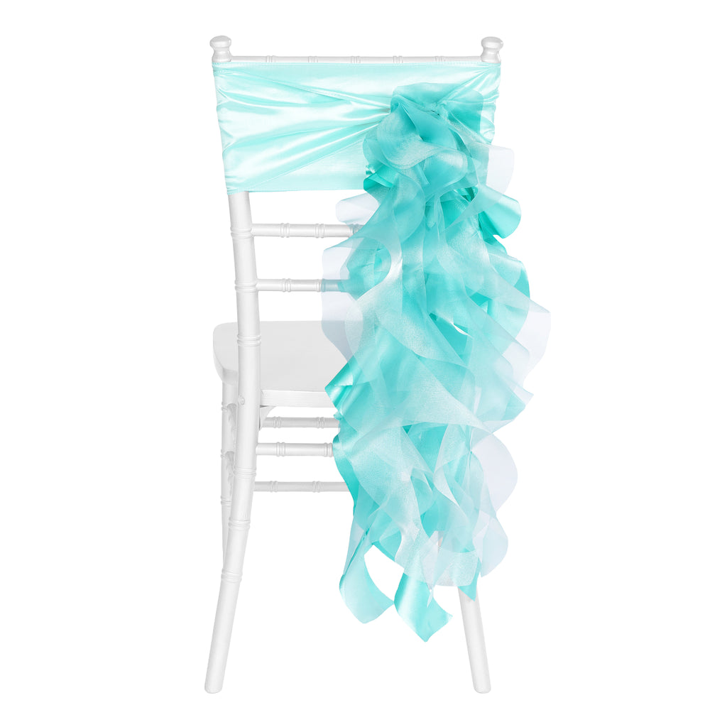 Curly Willow Chair Sash - Turquoise