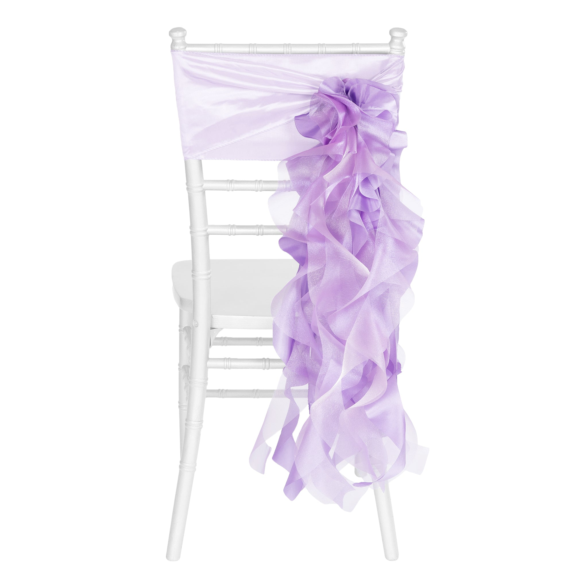 Curly Willow Chair Sash - Victorian Lilac/Wisteria- CV Linens