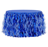 Curly Willow 17ft Table Skirt - Royal Blue