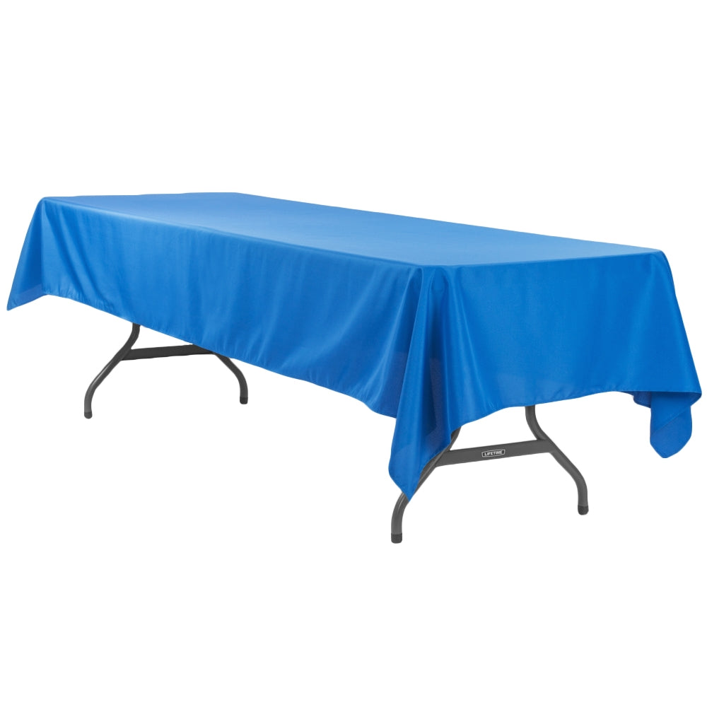 "Economy Polyester Tablecloth 60""x120"" Rectangular - Royal Blue"