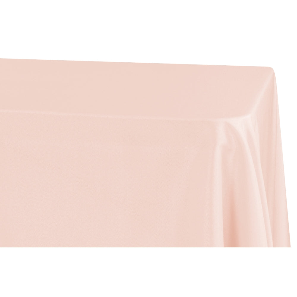 "Economy Polyester Tablecloth 90""x132"" Oblong Rectangular - Blush"