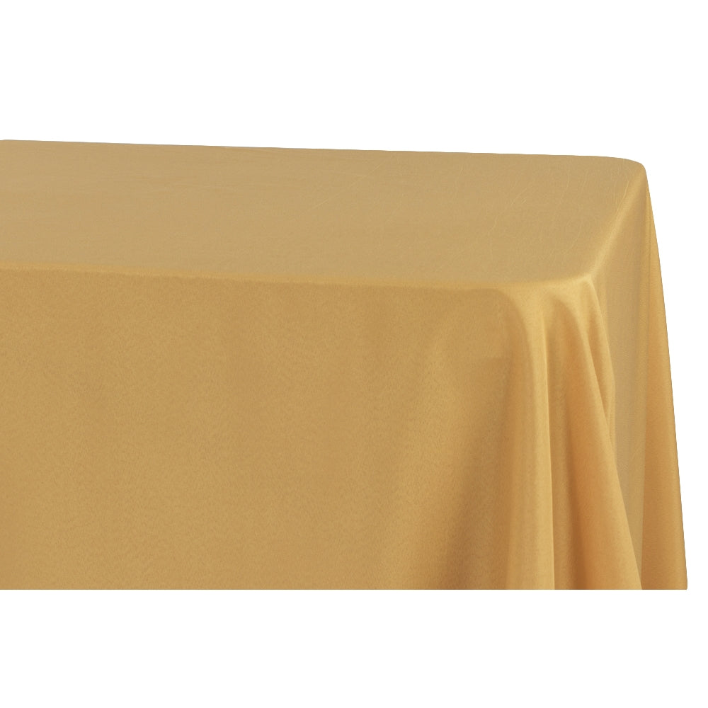 "Economy Polyester Tablecloth 90""x156"" Oblong Rectangular - Gold"